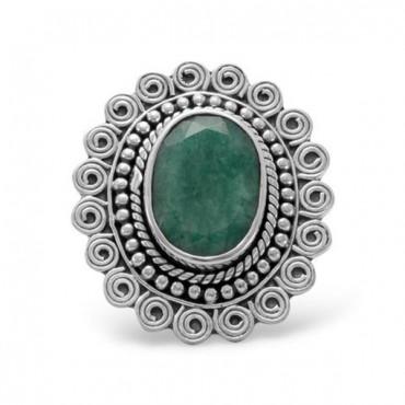 Oval Beryl Ring