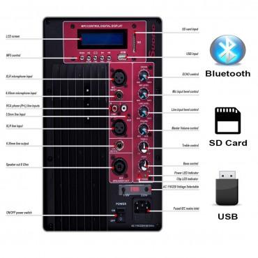 2 - Way Powered Speaker USB/SD Card Bluetooth Remote Control