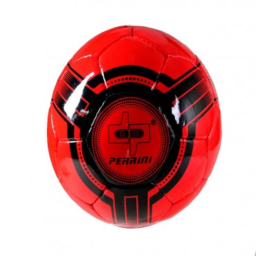 Perrini Indoor Outdoor Sports Red & Black Soccer Ball Futsal Official Size 4