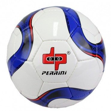 Perrini Official Size 5 Soccer Ball Black and Blue