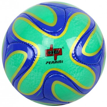Perrini Green/Blue/Gold Soccer Ball Size 5