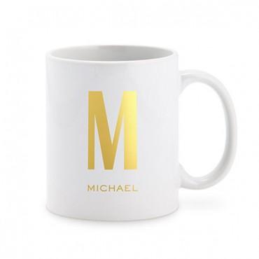 Personalized Coffee Mug - Single Monogram