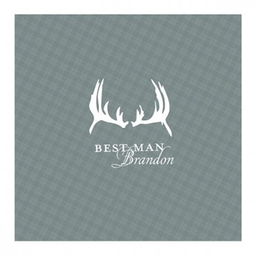 Antlers Plaid Personalized Handkerchief