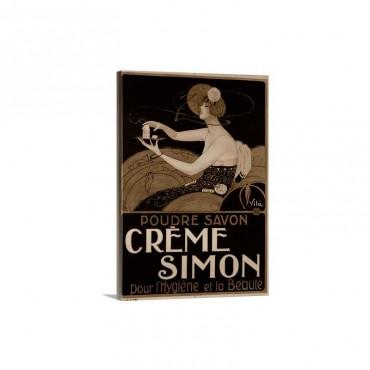 Creme Simon Poster - Canvas - Gallery Wrap