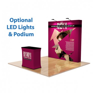 8ft Straight Velcro Fabric Pop Up Display
