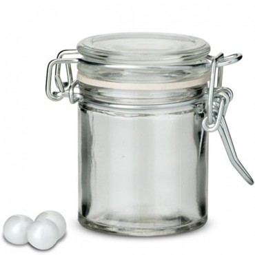 Small Glass Jar With Wire Snap Lid Favor Container 12