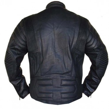 Perrini Biker Leather Motorcycle Riding Jacket Vented