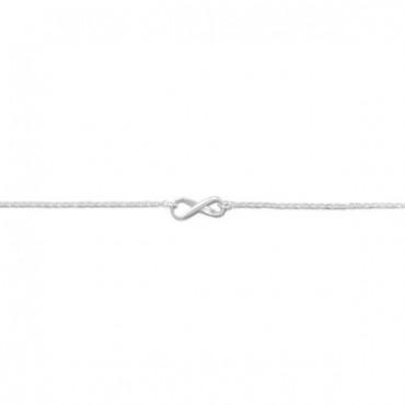 11 in. + 1 in. Infinity Symbol Anklet
