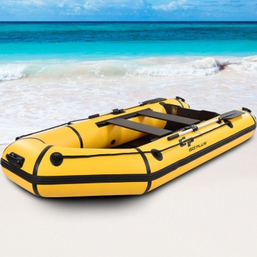 Goplus 4 - Person 10 Ft Inflatable Dinghy Boat For Rafting Water Sports
