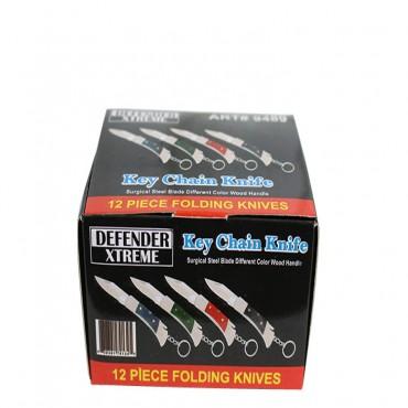 12 Piece Defender Xtreme Key Chain Folding Knife Boxed Set