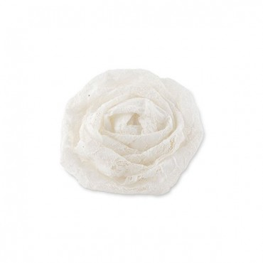 Decorative Rolled Fabric Lace Flowers - Small