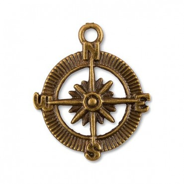 Compass Charms 12 - 2 Pieces