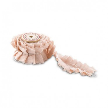 Ruffled Fabric Ribbon Trim - 3 Pieces