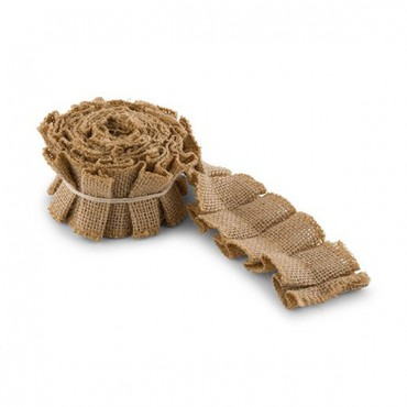 Ruffled Jute Ribbon Trim - 4 Pieces
