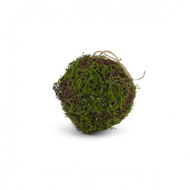 Faux Moss And Wicker Pomander 2 Pieces