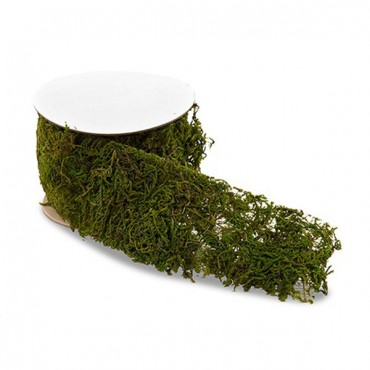 Roll Of Faux Moss Ribbon - 3 Pieces
