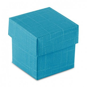10 Oasis Blue Square Favor Box With Lid