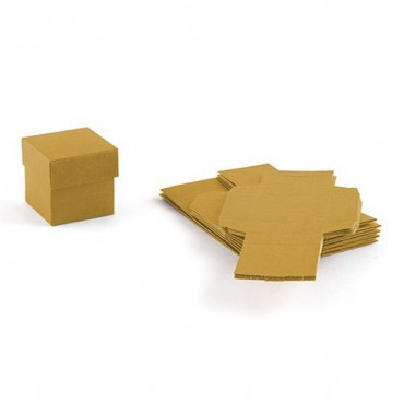Lustrous Gold Favor Box With Lid 10