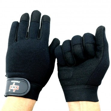 Perrini Black Workout / Weight Lifting / Work Gloves All Sizes
