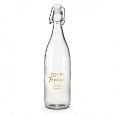 Vintage Water Bottle - Feeling Tropical Foiled Print