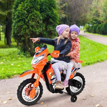 6 V Kids Ride On Motorcycle With 2 Training Wheels