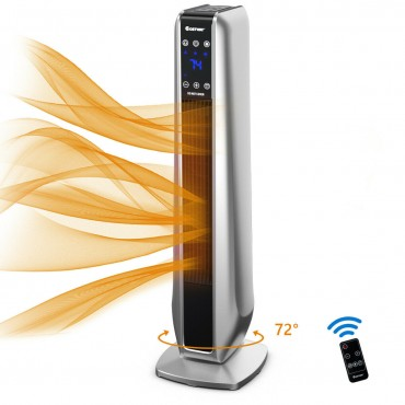 1500W Portable Oscillating Space Heater With Remote Control