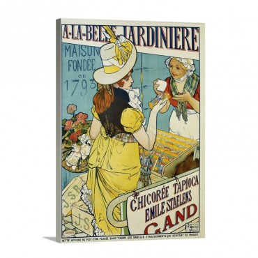 A La Belle Jardiniere Flower Seeds Advertisement Poster By Hamner Wall Art - Canvas - Gallery Wrap