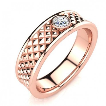 Adam Diamond Ring - Rose Gold