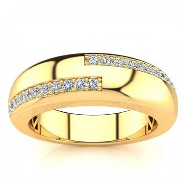 Alan Diamond Ring - Yellow Gold