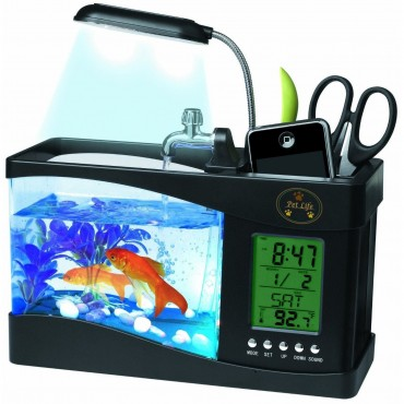 All-In-One Digital Desktop Aquarium - Black