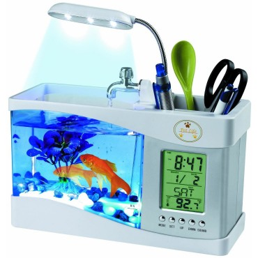 All-In-One Digital Desktop Aquarium - White