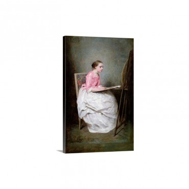 A Girl Drawing 1856 Wall Art - Canvas - Gallery Wrap