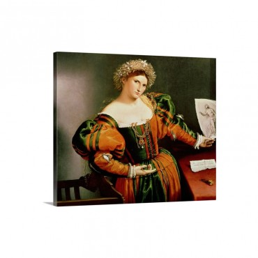 A Lady With A Drawing Of Lucretia C 1530 33 Wall Art - Canvas - Gallery Wrap