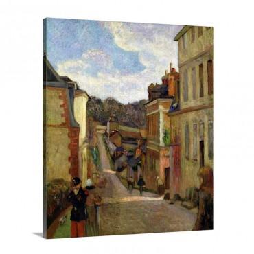 A Suburban Street 1884 Wall Art - Canvas - Gallery Wrap