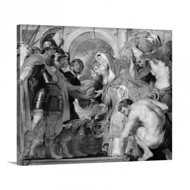 Abraham And Melchizedek 1615 18 Wall Art - Canvas - Gallery Wrap