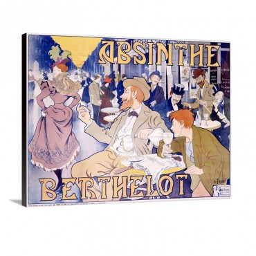 Absinthe Berthelot Vintage Poster By Thiriet Wall Art - Canvas - Gallery Wrap