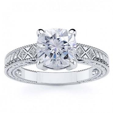 Adeline Moissanite Ring - White Gold
