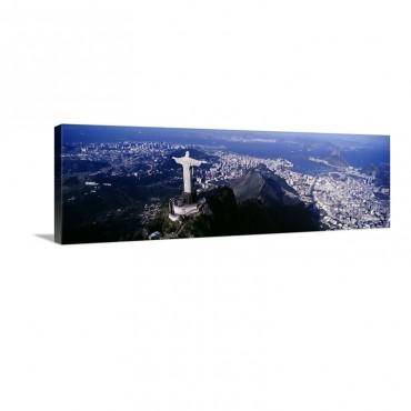Aerial Rio De Janeiro Brazil Wall Art - Canvas - Gallery Wrap