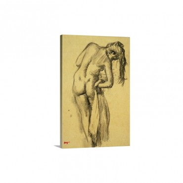 After The Bath C 1891 92 Wall Art - Canvas - Gallery Wrap