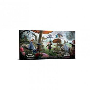 Alice In Wonderland 2010 Wall Art - Canvas - Gallery Wrap