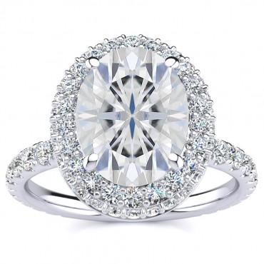 Alora Moissanite Ring - White Gold