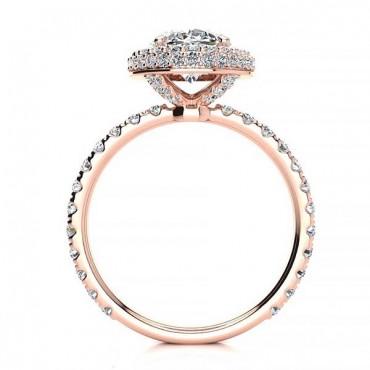 Alora Moissanite Ring - Rose Gold