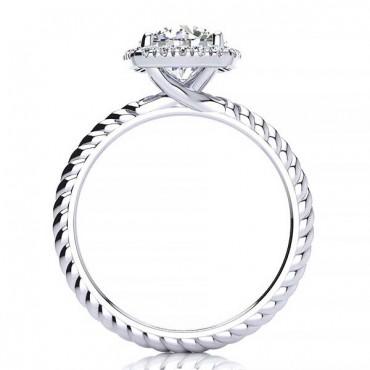 Alyssa Moissanite Ring - White Gold