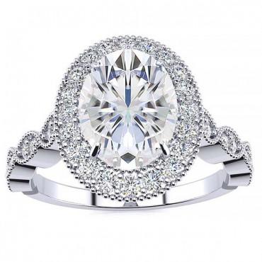 Amalia Moissanite Ring - White Gold