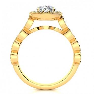 Amalia Moissanite Ring - Yellow Gold