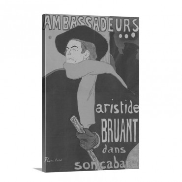 Ambassadeurs Aristide Bruant 1892 Wall Art - Canvas - Gallery Wrap