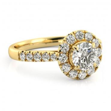 Amelia Moissanite Ring - Yellow Gold