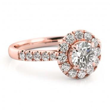 Amelia Moissanite Ring - Rose Gold