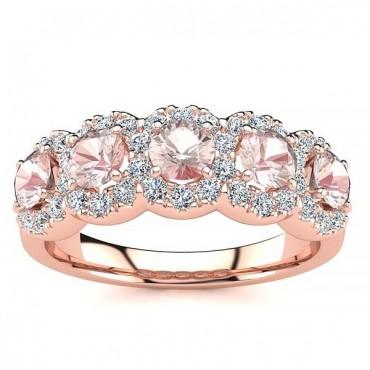 Amy Morganite Ring - Rose Gold
