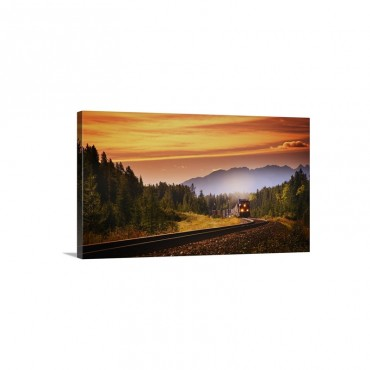An Oncoming Train Wall Art - Canvas - Gallery Wrap